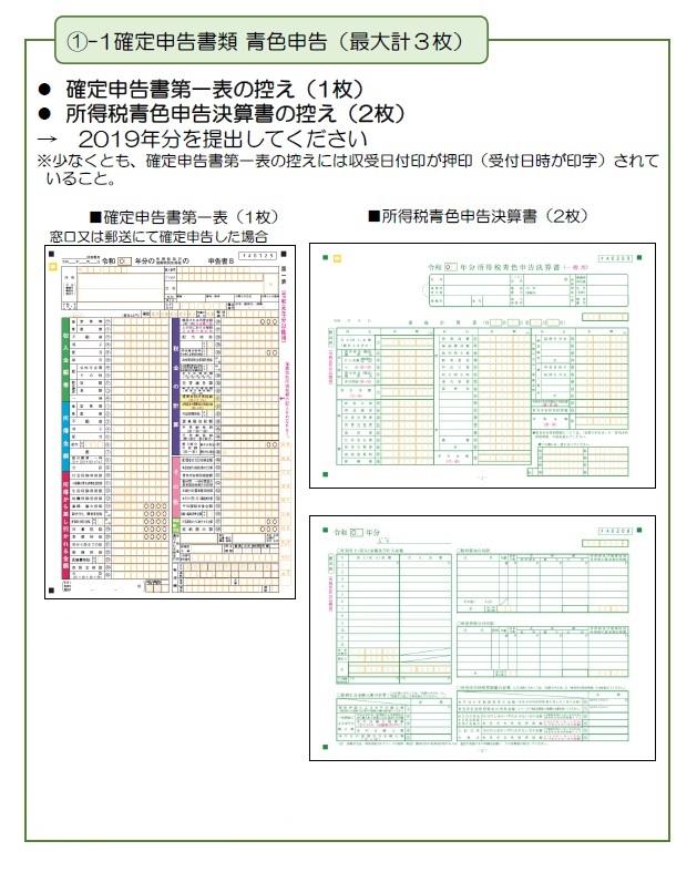 持続化給付金の申請方法と計算フォーマット_確定申告書類_青色個人