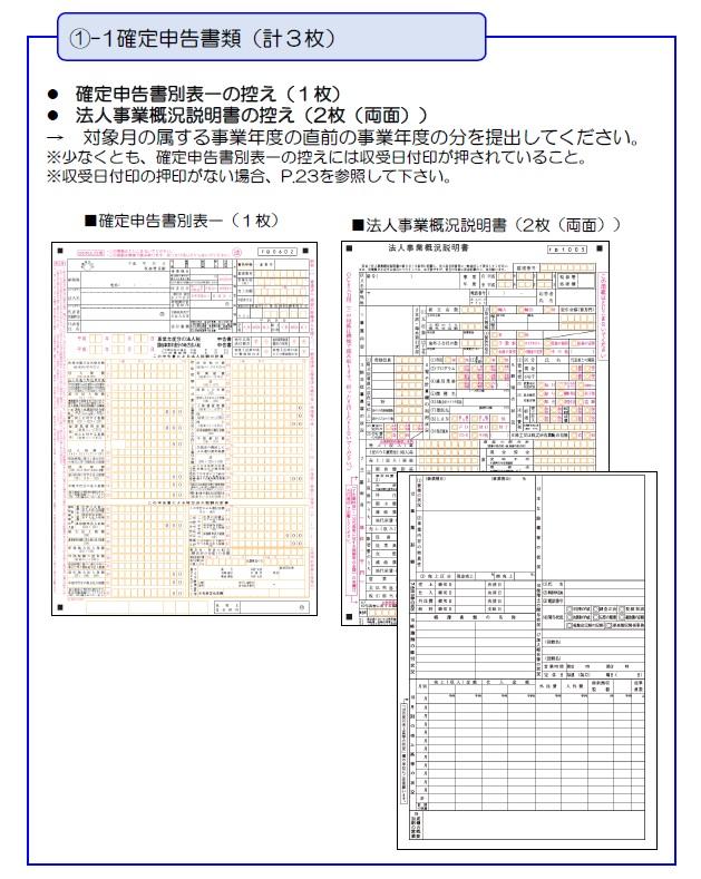 持続化給付金の申請方法と計算フォーマット_確定申告書類