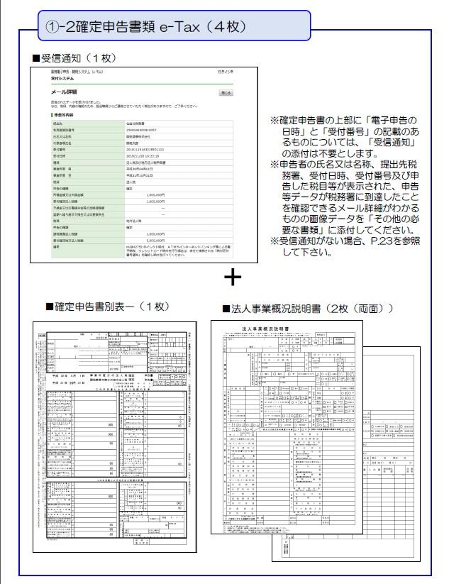 持続化給付金の申請方法と計算フォーマット_確定申告書類e-Tax